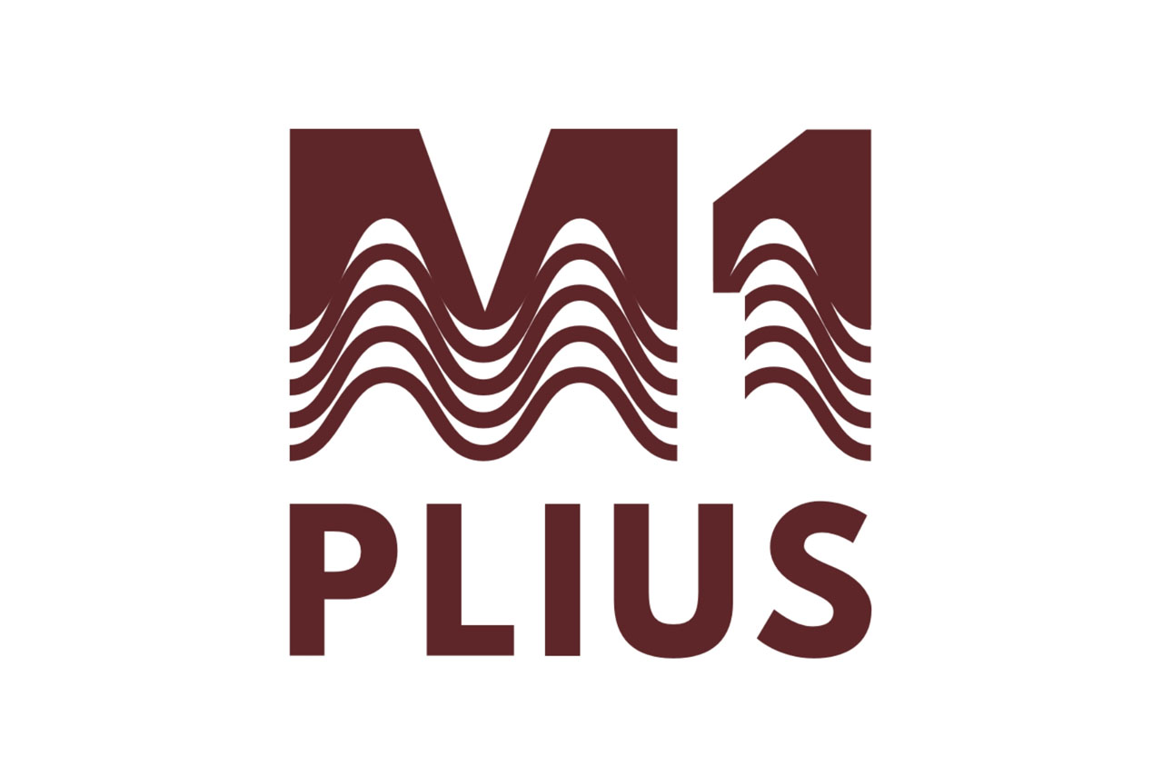 M-1 plius logotipas